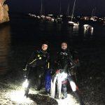 Buceo nocturno en Calahonda