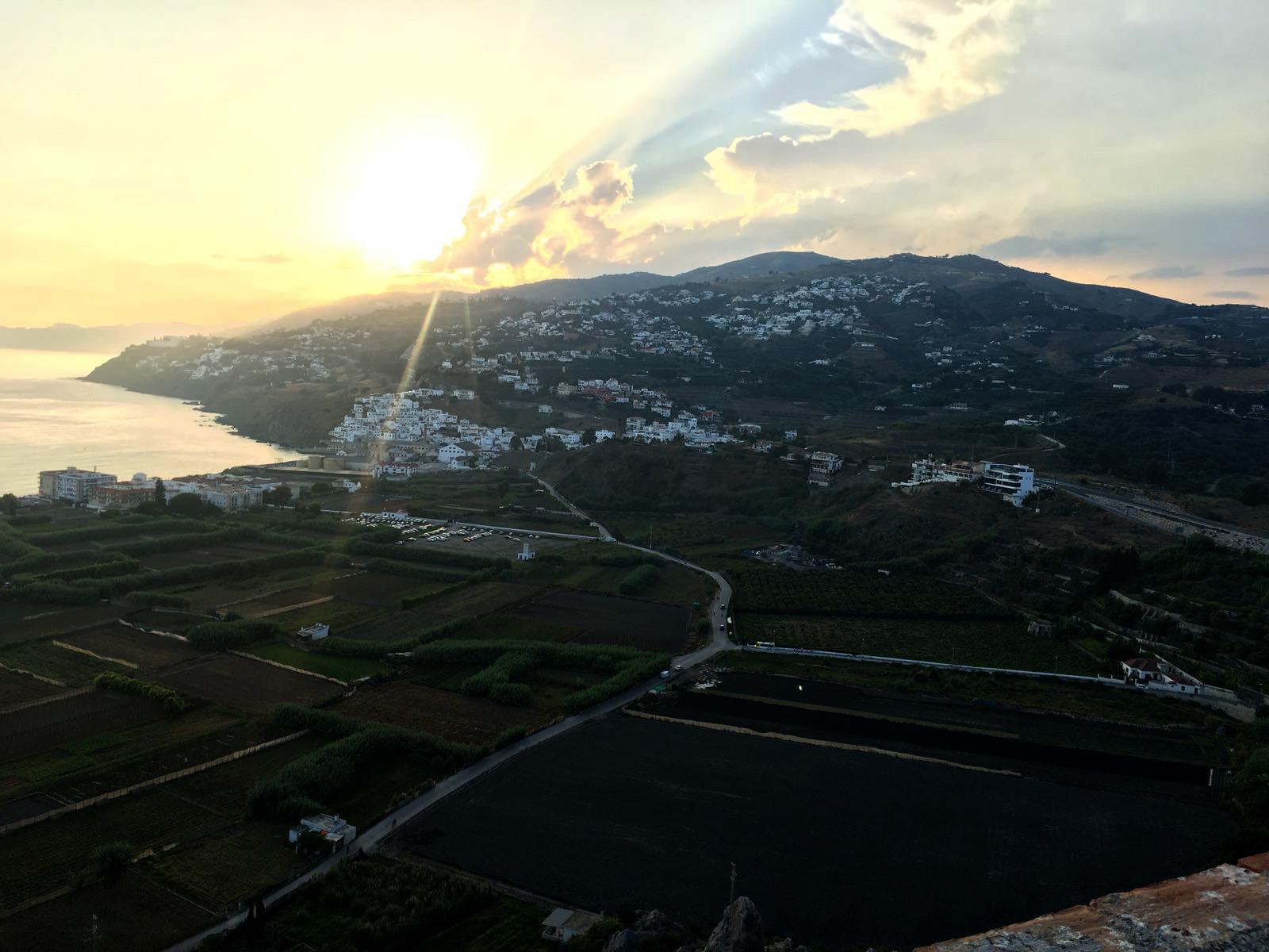 Vistas desde castillo de Salobreña